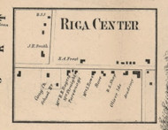 Riga Center, New York 1858 Old Town Map Custom Print - Monroe Co.