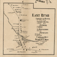 East Rush, New York 1858 Old Town Map Custom Print - Monroe Co.