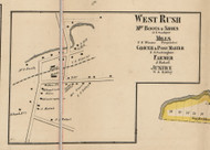 West Rush, New York 1858 Old Town Map Custom Print - Monroe Co.