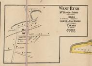 West Rush, New York 1858 Old Town Map Custom Print - Monroe Co.