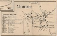 Mumford, New York 1858 Old Town Map Custom Print - Monroe Co.