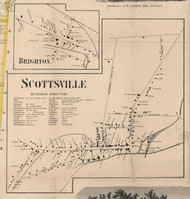 Scottsville, New York 1858 Old Town Map Custom Print - Monroe Co.