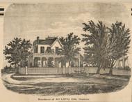 Latta Residence, Charlotte, New York 1858 Old Town Map Custom Print - Monroe Co.