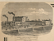 Duryee & Forsyth Manufacturing, Rochester, New York 1858 Old Town Map Custom Print - Monroe Co.