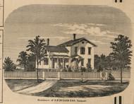Deland Residence, Fairport, New York 1858 Old Town Map Custom Print - Monroe Co.