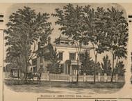 Upton Residence, Greece, New York 1858 Old Town Map Custom Print - Monroe Co.