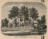 Birdsell Residence, Mendon, New York 1858 Old Town Map Custom Print - Monroe Co.