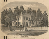 Webster Residence, Parma, New York 1858 Old Town Map Custom Print - Monroe Co.