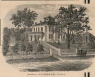 Gaskin Residence, Pittsford, New York 1858 Old Town Map Custom Print - Monroe Co.