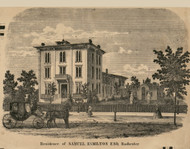Hamilton Residence, Rochester, New York 1858 Old Town Map Custom Print - Monroe Co.