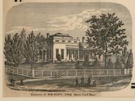 Hart Residence, Rush, New York 1858 Old Town Map Custom Print - Monroe Co.