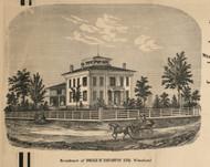 Naughton Residence, Wheatland , New York 1858 Old Town Map Custom Print - Monroe Co.