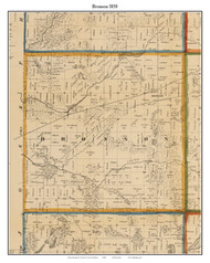 Bronson, Michigan 1858 Old Town Map Custom Print - Branch Co.