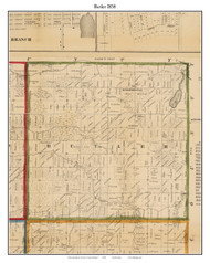 Butler, Michigan 1858 Old Town Map Custom Print - Branch Co.