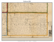 California, Michigan 1858 Old Town Map Custom Print - Branch Co.
