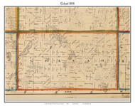 Gilead, Michigan 1858 Old Town Map Custom Print - Branch Co.