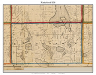 Kinderhook, Michigan 1858 Old Town Map Custom Print - Branch Co.