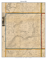 Matteson, Michigan 1858 Old Town Map Custom Print - Branch Co.