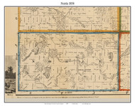 Noble, Michigan 1858 Old Town Map Custom Print - Branch Co.