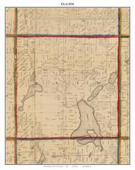 Ovid, Michigan 1858 Old Town Map Custom Print - Branch Co.