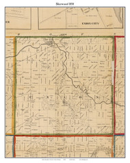 Sherwood, Michigan 1858 Old Town Map Custom Print - Branch Co.