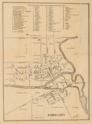 Union City, Michigan 1858 Old Town Map Custom Print - Branch Co.