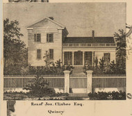 Clisbee Residence, Quincy, Michigan 1858 Old Town Map Custom Print - Branch Co.