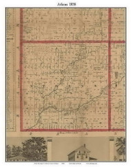 Albion, Michigan 1858 Old Town Map Custom Print - Calhoun Co.