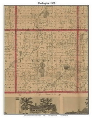 Bedford, Michigan 1858 Old Town Map Custom Print - Calhoun Co.