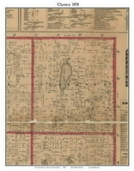 Burlington, Michigan 1858 Old Town Map Custom Print - Calhoun Co.
