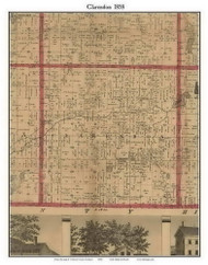 Clarence, Michigan 1858 Old Town Map Custom Print - Calhoun Co.