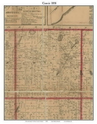 Clarendon, Michigan 1858 Old Town Map Custom Print - Calhoun Co.
