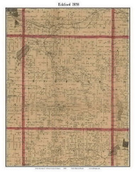 Eckford, Michigan 1858 Old Town Map Custom Print - Calhoun Co.