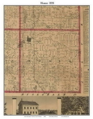 Homer, Michigan 1858 Old Town Map Custom Print - Calhoun Co.