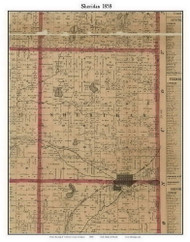 Sheridan, Michigan 1858 Old Town Map Custom Print - Calhoun Co.