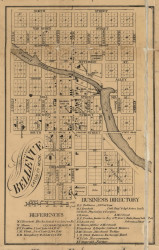 Bellevue Village, Eaton County, Michigan 1858 Old Town Map Custom Print - Calhoun Co.