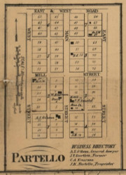 Partello Village, Lee, Michigan 1858 Old Town Map Custom Print - Calhoun Co.