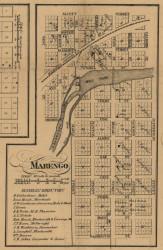Marengo Village, Marengo, Michigan 1858 Old Town Map Custom Print - Calhoun Co.