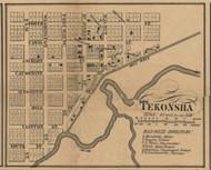 Tekonsha Village, Tekonsha, Michigan 1858 Old Town Map Custom Print - Calhoun Co.