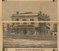 Hannahs Residence, Albion, Michigan 1858 Old Town Map Custom Print - Calhoun Co.