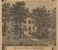 Mayhew Residence, Albion, Michigan 1858 Old Town Map Custom Print - Calhoun Co.