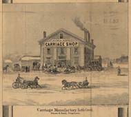 Adams & Smith Carriage Manufactory, Battle Creek, Michigan 1858 Old Town Map Custom Print - Calhoun Co.