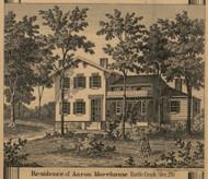 Morehouse Residence, Battle Creek, Michigan 1858 Old Town Map Custom Print - Calhoun Co.