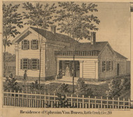 Van Buren Residence, Battle Creek, Michigan 1858 Old Town Map Custom Print - Calhoun Co.