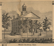 Homer Academy, Homer, Michigan 1858 Old Town Map Custom Print - Calhoun Co.