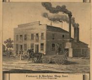 Potter Furnace & Machine Shop, Homer, Michigan 1858 Old Town Map Custom Print - Calhoun Co.