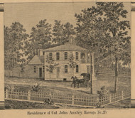 Ansley Residence, Marengo, Michigan 1858 Old Town Map Custom Print - Calhoun Co.