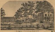 Pattison Residence, Marengo, Michigan 1858 Old Town Map Custom Print - Calhoun Co.