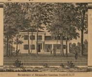 Gordon Residence, Pennfield, Michigan 1858 Old Town Map Custom Print - Calhoun Co.