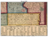 Bertrand, Michigan 1860 Old Town Map Custom Print - Berrien Co.